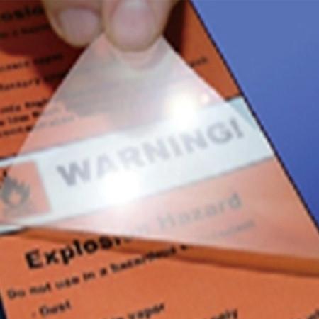 透明覆膜标签材料